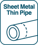 Sheet Metal Thin Pipe